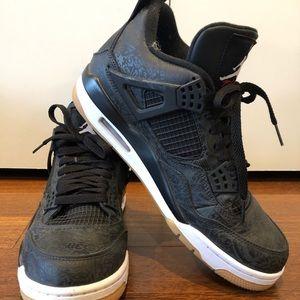 Nike Jordan 4 Retro Laser Black Gum (mens)